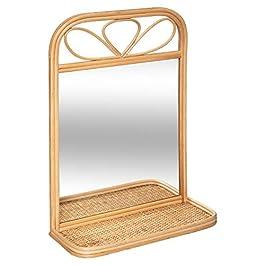 marque Atmosphera Créateur d'intérieur Miroir étagère rotin