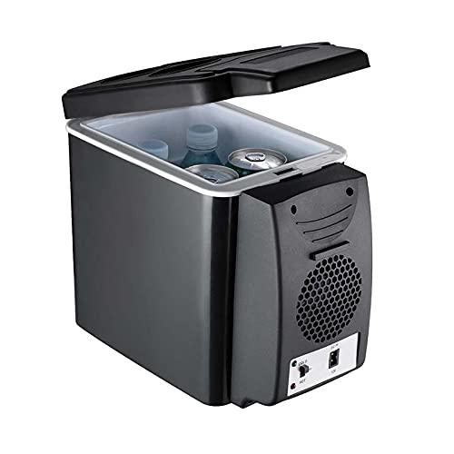 Mini refrigerador de 6L, enfriador y calentador, refrigerador de viaje de 12v / 220V, congelador automático de caja de hielo eléctrica portátil, para auto, oficina en casa, camping