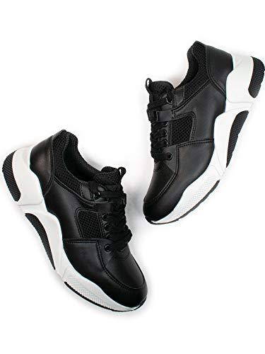 Will's Vegan Zapatos Mujeres Chicago Low Tops Negro, color Negro, talla 36 EU