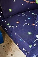 Catherine Lansfield Happy Space Easy Care - Sábana Bajera Ajustable, Color Azul Marino