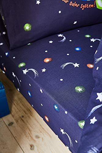 Catherine Lansfield Happy Space Easy Care - Lenzuolo con angoli per letto singolo, colore: Blu navy