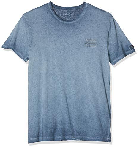NAPAPIJRI Sneek T-Shirt, Blu (Blu Marine 176), Large Uomo