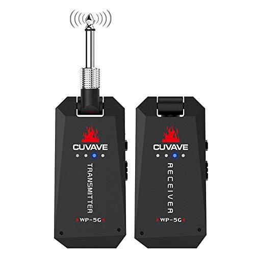 Émetteur-Récepteur Numérique Audio 5,8 Ghz, Système De Guitare Stéréo sans Fil Rechargeable par USB, Amplificateur De Casque De Guitare pour Violon Basse Électrique
