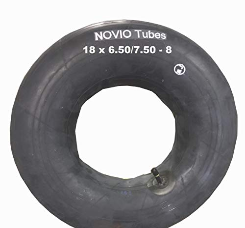 Schlauch Rasentraktor 18 x 6.50-8/7.50-8 (18 x 7.00-8) TOP-QUALITÄT, passend für Reifen Aufsitzmäher Rasenmäher, gerades Ventil