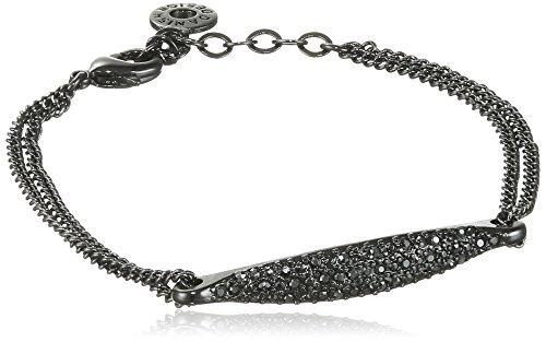 Pilgrim Damen-Armband Classic Kristall schwarz Rundschliff 0.5 cm - 601533192