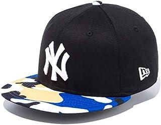 ニューエラ キッズ キャップ 帽子 NEW ERA Youth 9FIFTY カラーカモ ニューヨーク?ヤンキース キャップ ブラック/ホワイト/ブルー/イエローカモバイザー