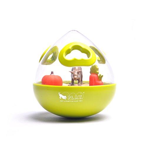 WOBBLE BALL Jouet Ludique pour Chien 2,0 Citron Vert Taille 13 cm