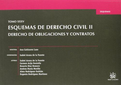 Tomo XXXV Esquemas de Derecho civil II Derecho de obligaciones y contratos
