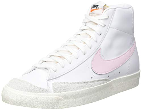 Nike BLAZER MID '77 VNTG, Men's Basketball Shoe Basketball Shoe, White Pink...