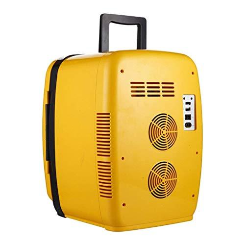 XiYou Refrigerador para automóvil-Mini refrigerador 20L Silencioso Amarillo Reefer Cooler Box (Uso en el hogar y en el automóvil) para automóviles y Camiones