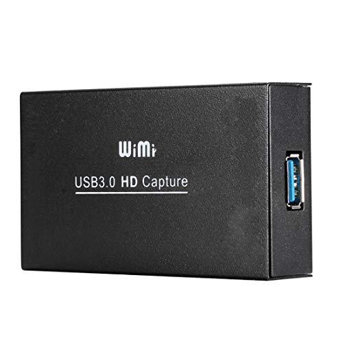 Luoshan WIMI EC288 USB 3.0 HDMI 1080P Dispositivo de Captura de Video Stream Box, No es Necesario Instalar el Controlador (Negro) (Color : Black)