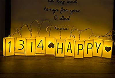 ALHXF LED Letter Light Box Rope Lights(78.7in 20led) Outdoor String Lights Happy Birthday Banner Birthday Holiday Decoration Battery Powered Box String Lights