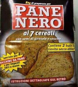 prodigital Farina 1 kg Farina per Fare Pane Nero ai 7 Ceriali + lievito