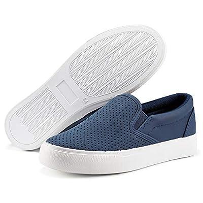 JENNARDOR Women Fashion Sneakers Slip On Shoes ...