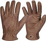 Helikon-Tex Lumber Gloves, Brown Leather, X Large, Bushcraft Line