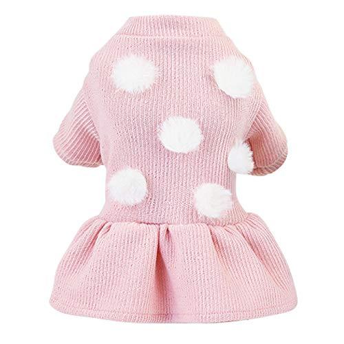 Effen gebreide jurk voor honden winter kerst gebreide jurken trui meisje rok voor zoete pups puppy kleding
