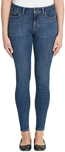 Calvin Klein Jeans Ladies Mid Rise Skinny Jean (8, Dark Wash)