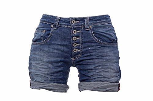 Please Shorts Damen Jeans p88 e02 p88abq2e02 XL Denim Dunkelblau