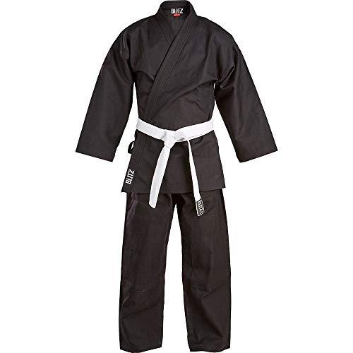 Blitz Kinder Traditioneller Jiu-Jitsu-Anzug Einheitsgröße Schwarz