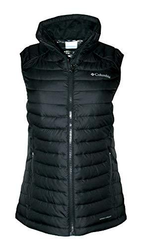 Columbia Women's White Out Puffer Omni Heat Full Zip Insulated Vest (Black, M)