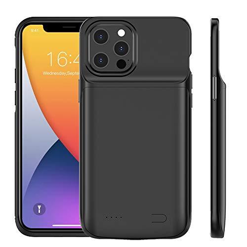 Idealforce - Custodia di ricarica per iPhone 12 Pro Max 7.7 pollici, portatile 4800 mAh Power Bank Custodia protettiva per iPhone 12 Pro Max 7.7 pollici