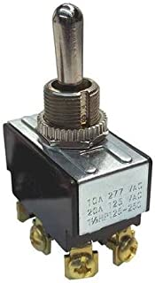 Toggle Switch, DPDT, 20A, 125VAC, On/Off/On (2 pieces)