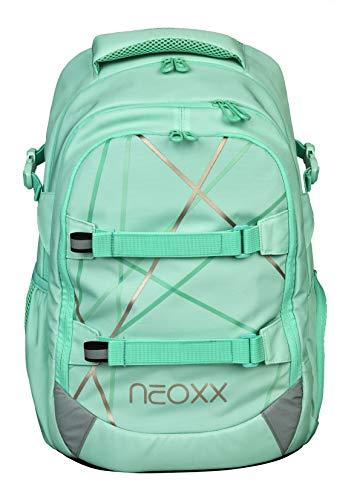 Neoxx Active Schulrucksack Mint to be I Schulranzen für die weiterführende Schule I Rucksack I Tornister für Mädchen und Jungen