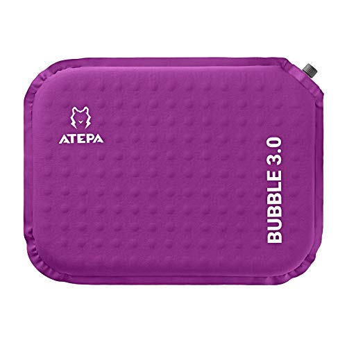 ATEPA クッション 自動膨張 座布団 低反発 携帯座布団 エアピロー 厚さ3cm/5cm コンパクトマット インフレータブル アウトドア キャンプ 観戦 花見 出張 自宅 オフィスに最適 携帯まくら
