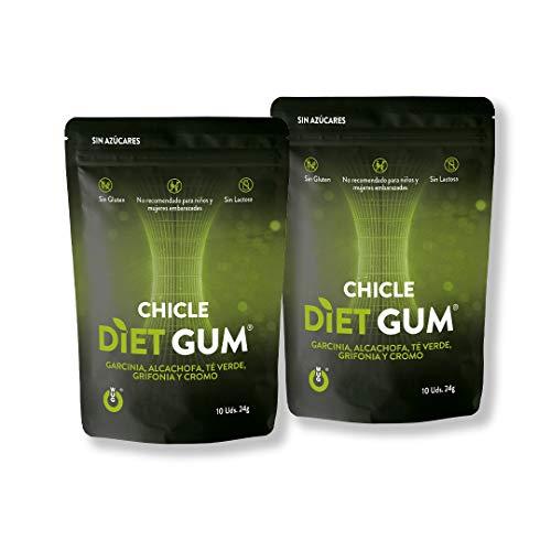 WUGum Chicles Funcionales: Diet para Ayudarte con la Dieta. Pack 2 unidades.