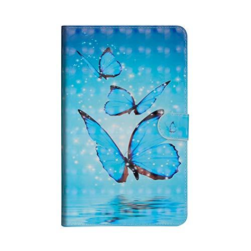 Huawei Mediapad M5 8.4 Zoll Hülle,JAWSEU Huawei Mediapad M5 8.4 Zoll Lederhülle - Smart Cover Tablet Hülle Schmetterling 3D Muster PU Leder Flip Hülle Wallet Tasche Schutzhülle mit Ständer