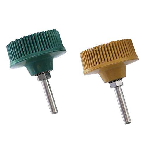 Amuzocity Cepillo de Rueda Abrasiva de Disco de Cerdas Cónicas de Vástago de 2 X 1/4 '' para Moler/Pulir