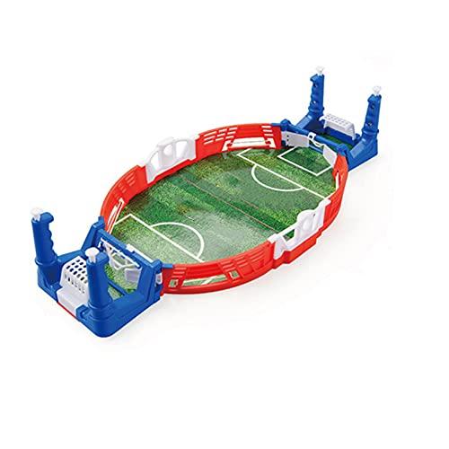 QKFON Mini mesa superior campo de fútbol con bolas niños juguetes educativos mesa juego de fútbol ejercicio mano-ojo coordinación niños interesante fútbol juegos de mesa para niños