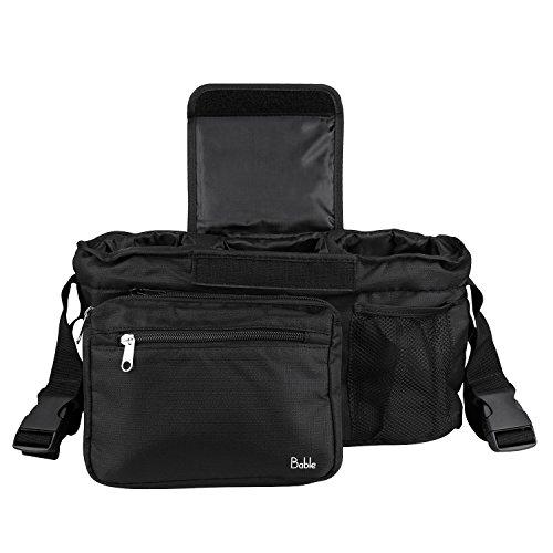Bable Tasche für Buggy Kinderwagen Organizer Tasche faltbar Multifunktions-Aufbewahrungsbox (tl-b2, Schwarz)