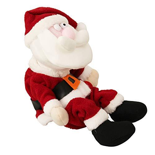 lux.pro Babbo Natale Che Balla e Ride 31cm - Personaggio Natalizio Che ridacchia e Si dibatte Piccolo Santa Claus Che Si muove e ridacchia Natale Santa Claus Decorazione - Babbo Natale della ditta
