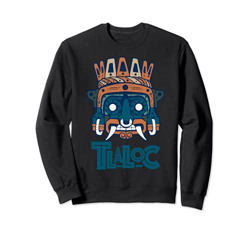 Calandero de traje azteca Tlaloc Art Maya Inca Cultura para hombres Sudadera