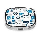 Pastillero, pastillero cuadrado Organizador compacto de dos compartimentos para tabletas - Asistencia al cliente 357