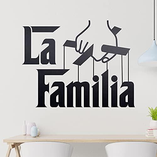 KIWISTAR La Familia - Familie Mafia Hooligans Kartell Gang Italien Wandtattoo in 6 Größen - Wandaufkleber Wall Sticker