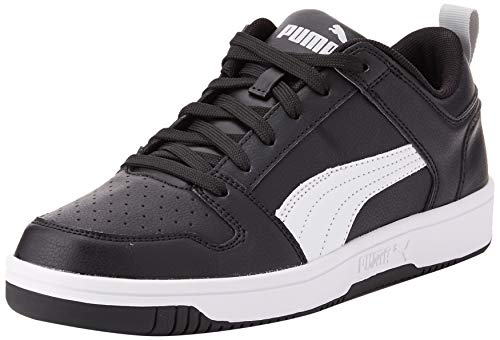 PUMA Rebound Layup Lo SL, Zapatillas Unisex Adulto, Black White-High Rise, 36 EU
