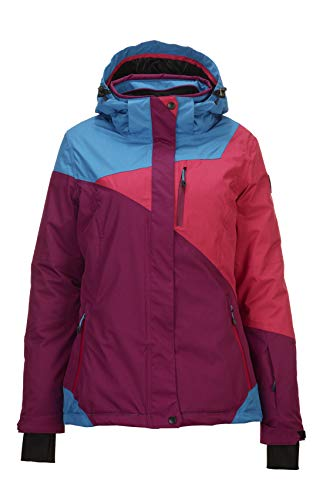Killtec Kirty ski-jack voor dames, snowboardjas, functionele jas met afritsbare capuchon en sneeuwvanger