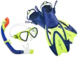 Aqua Lung Sport La Costa Junior Pro Dive Kinder 3er Set (Tauchmaske, Schnorchel & Flossen) inkl....