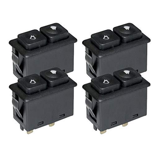 Interruptor de la Ventana Al21-4PCS Power Window SunRoof Switch Iluminado Compatible con BMW E30 E24 E28 de 09/1986 61311381205/61 31 1 381 205 reemplazo (Color : Black)