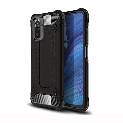 Liner Funda para Xiaomi Redmi Note 10 4G, [Shockproof Style] [Protección de 360 Grados] Hard PC y Silicona TPU Bumper Antigolpes Estuche para Xiaomi Redmi Note 10 4G - Negro