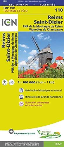 Reims Sainz-Dizier 1:100 000: PNR de la Montagne de Reims. Vignobles de Champagne