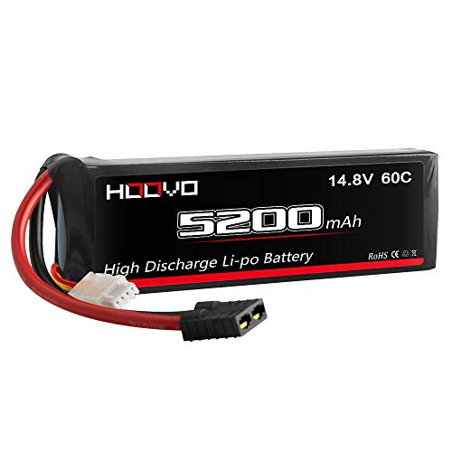 HOOVO 14.8V 5200mAh 60C 4S Lipo Battery with Connector for RC Helicopter RC Airplane Quadcopter Drone RC Boat