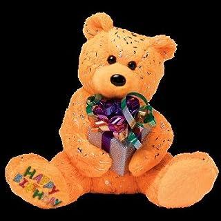 df25d5bd7f5 Ty Beanie Babies Happy Birthday the Bear ( Orange - W  Present )