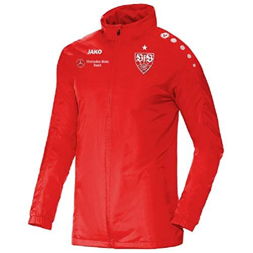 JAKO Erwachsene VfB Stuttgart Teamline Regenjacke, rot, XL