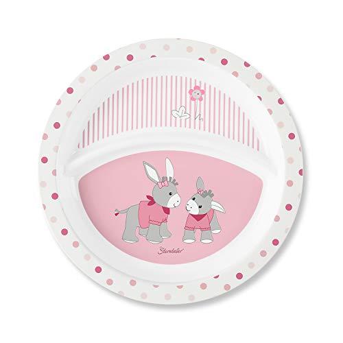 Sterntaler Assiette Bébé, Emm l'âne Girl, Âge: Pour les bébés à partir de 6 mois, Rose