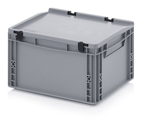 Eurobehälter-Eurobox 40 x 30 x 23,5 cm mit Scharnierdeckel inkl. gratis Zollstock