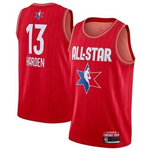 Houston Rockets James Harden Fan Basketball Trikot, Jugend Unisex All-Star Atmungsaktiv Stickerei Mesh Casual Sport Shirt Outdoor Schnell Trocknend Verschleißfeste Weste Gr. L, rot