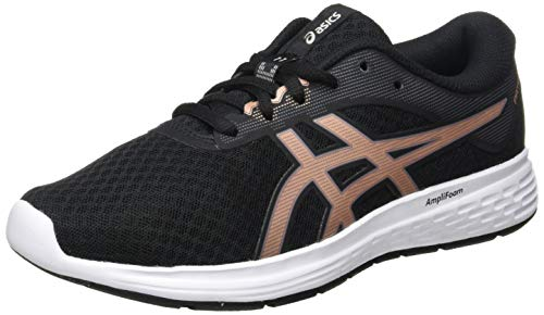 Asics Patriot 11, Running Shoe Womens, Black/Rose Gold, 39 EU